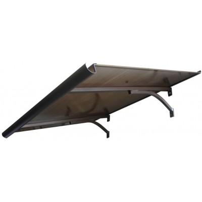 Козырек из поликарбоната Silver Wing 900 х 1600 мм скатный