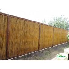 Декоративный забор из камыша секционный толщиной 5 см