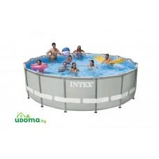 Каркасный бассейн Intex Prism Frame 457x107 см