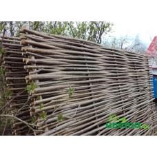 Забор (плетень) из орешника 200х120