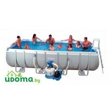 Каркасный прямоугольный бассейн Intex Rectangular Ultra Frame  549х274х132 см